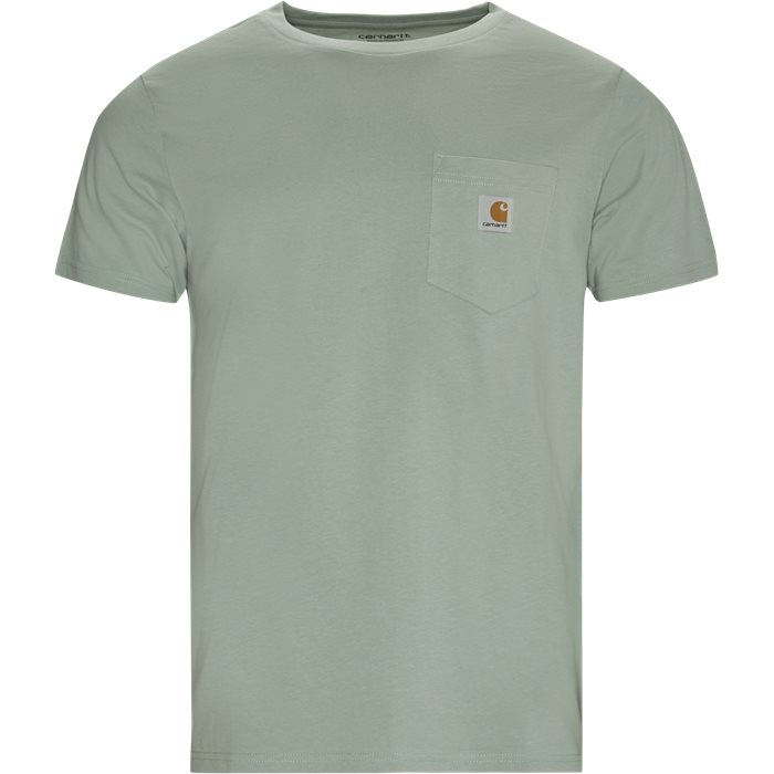 Pocket Tee - T-shirts - Regular - Grøn